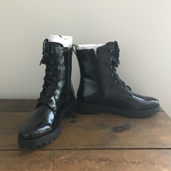 a80cb16e30be H M patent leather Dr. Martens look alikes